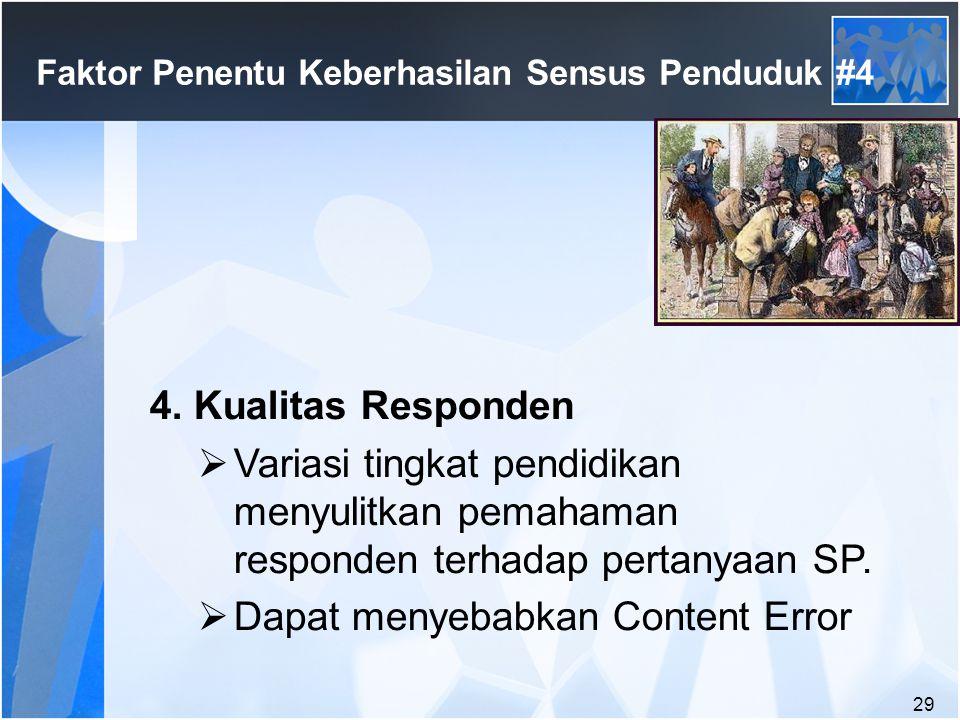 29 Faktor Penentu Keberhasilan Sensus Penduduk #4 4.