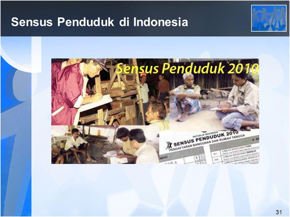 31 Sensus Penduduk di Indonesia
