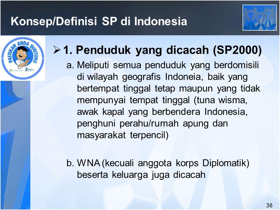 36 Konsep/Definisi SP di Indonesia  1.