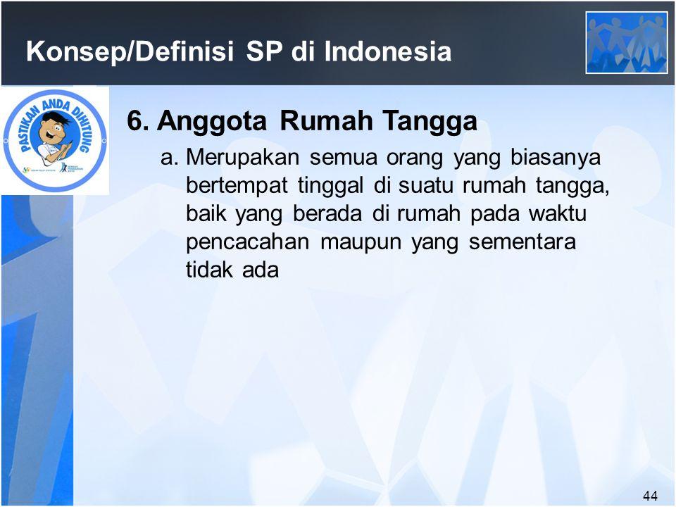 44 Konsep/Definisi SP di Indonesia 6.