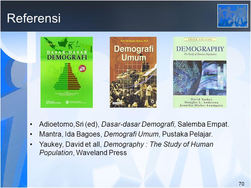70 Referensi Adioetomo,Sri (ed), Dasar-dasar Demografi, Salemba Empat.