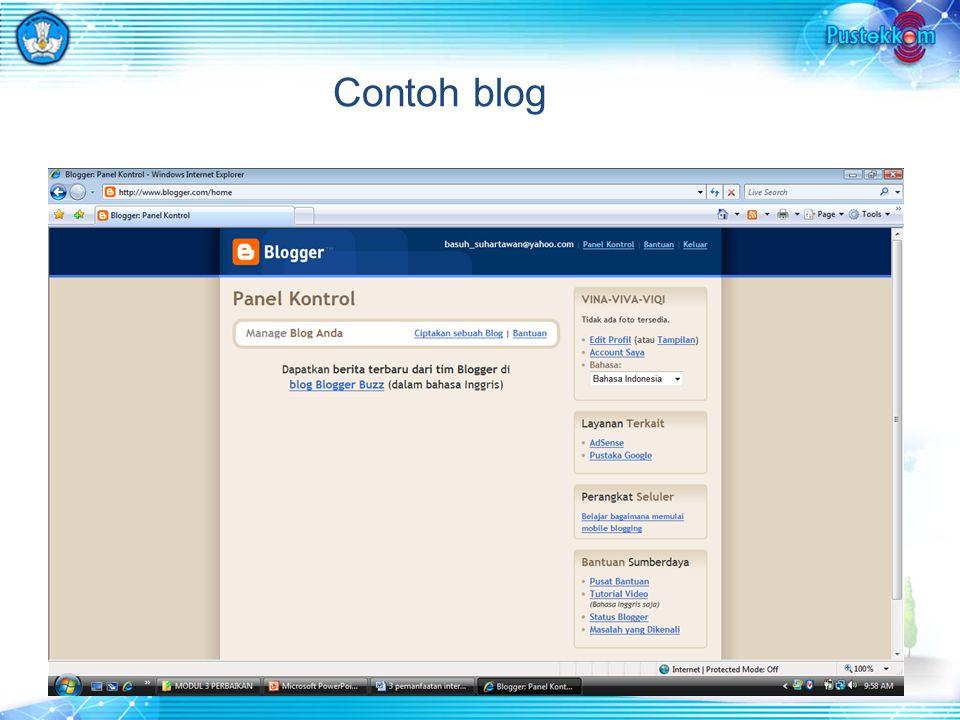 Contoh blog