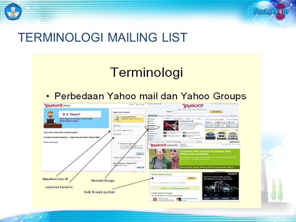 TERMINOLOGI MAILING LIST
