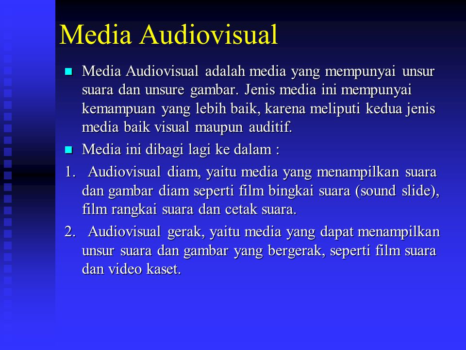 Media Visual Media Visual adalah media yang hanya mengandalkan indera penglihatan.