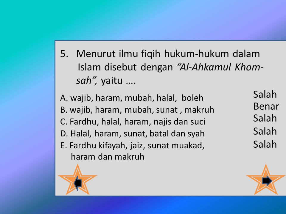 4.Kesepakatan para mujtahid untuk memutuskan suatu perkara baru yang tidak dijumpai hukumnya dalam Al-Qur'an maupun Al-Hadits dinamakan..... A. Ijtiha