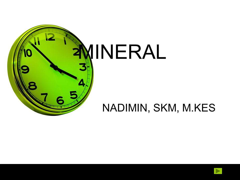 MINERAL NADIMIN, SKM, M.KES