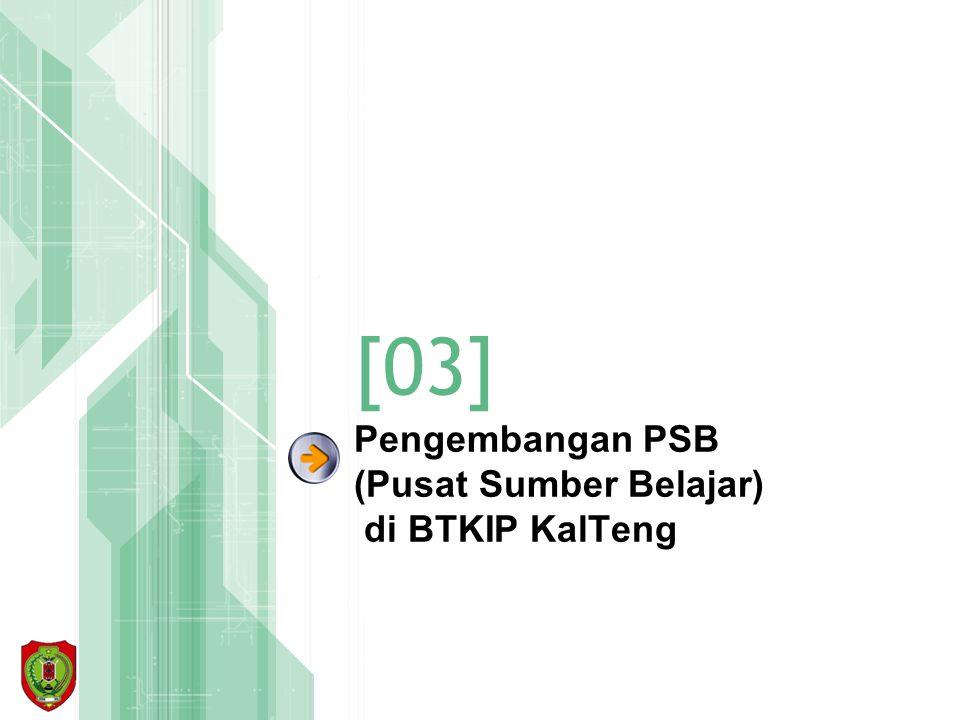 Pengembangan PSB (Pusat Sumber Belajar) di BTKIP KalTeng [03]