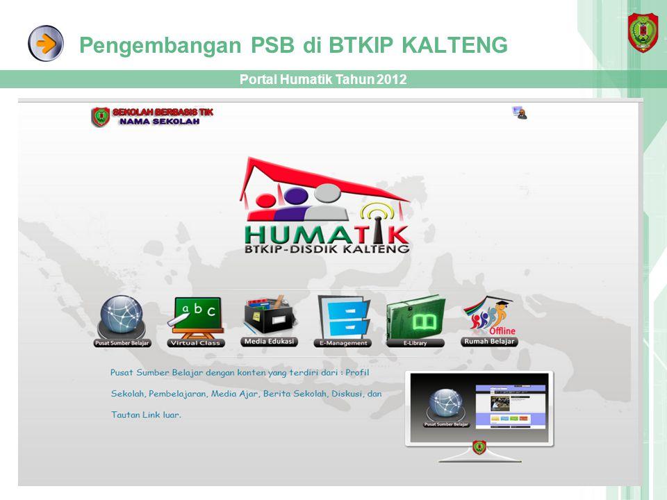 Pengembangan PSB di BTKIP KALTENG Portal Humatik Tahun 2012