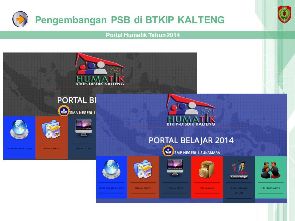 Pengembangan PSB di BTKIP KALTENG Portal Humatik Tahun 2014