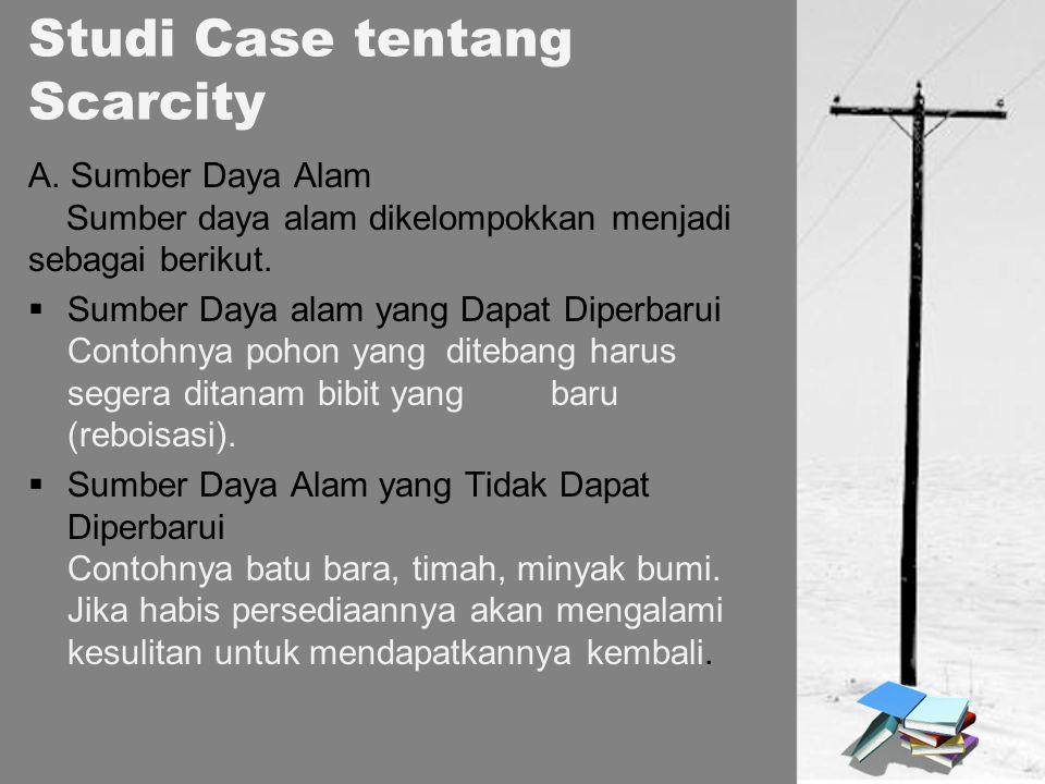 Studi Case tentang Scarcity A.