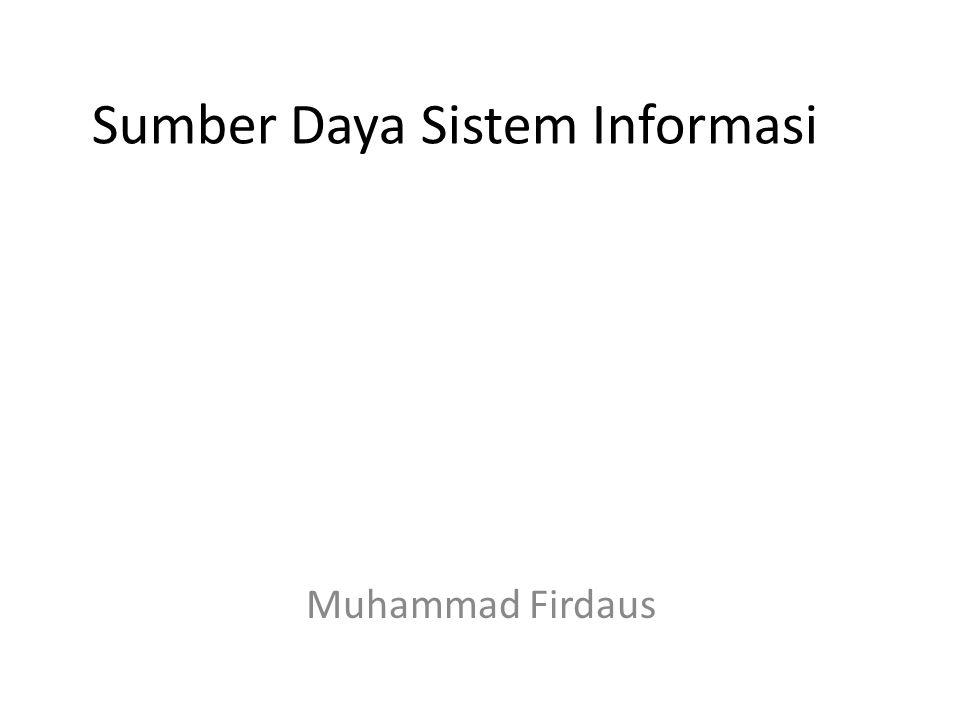 Sumber Daya Sistem Informasi Muhammad Firdaus