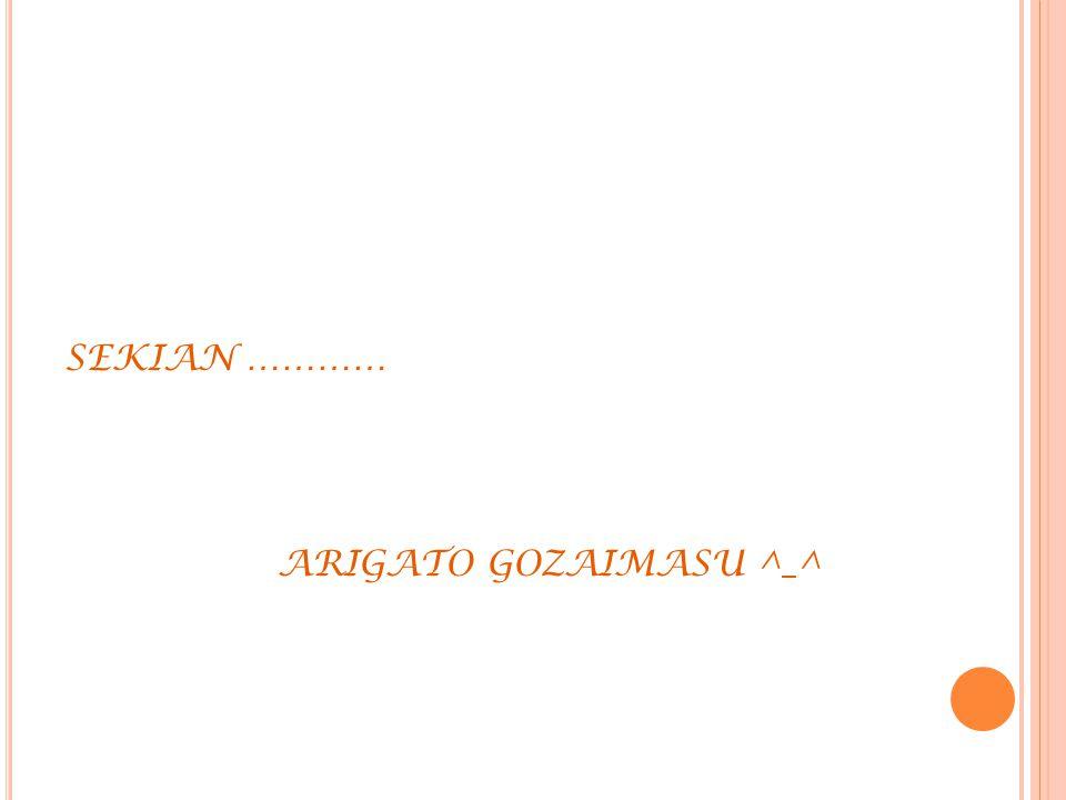 SEKIAN ………… ARIGATO GOZAIMASU ^_^
