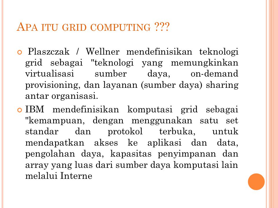 A PA ITU GRID COMPUTING .