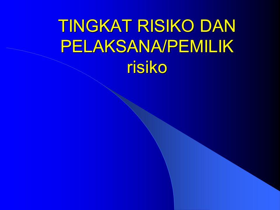Tingkat risiko dan tindakan yang dilakukan (PT.