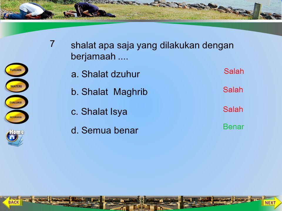 Shalat yang dilakukan sendirian disebut shalat … 6 b. Munqathi' c. Jama' a. Munfarid d. Qashar Salah Benar Salah
