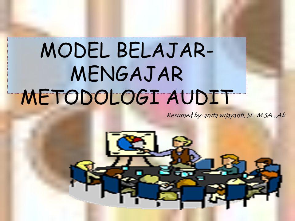 A U D I T I N G II MATA KULIAH PRASAYARAT : Akuntansi keuangan (Pengantar akuntansi I dan II, Akuntansi Keuangan I dan II) Sistem Informasi (Sistem Akuntansi, Sistem Informasi Akuntansi I dan II) B A H A S A N : Dasar-dasar prosedur pengauditan laporan keuangan Sifatnya lebih teknis dan operasional dibanding audit I Materi tentang model pengauditan laporan keuangan dengan menggunakan pendekatan siklus transaksi.