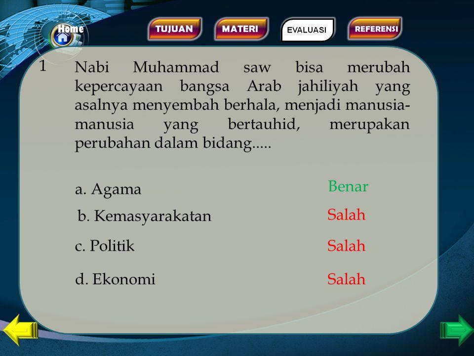 Kerjakanlah soal-soal berikut dengan cara memilih salah satu jawaban a, b, c atau d. Jika pilihan anda benar maka anda akan langsung mendapat jawaban