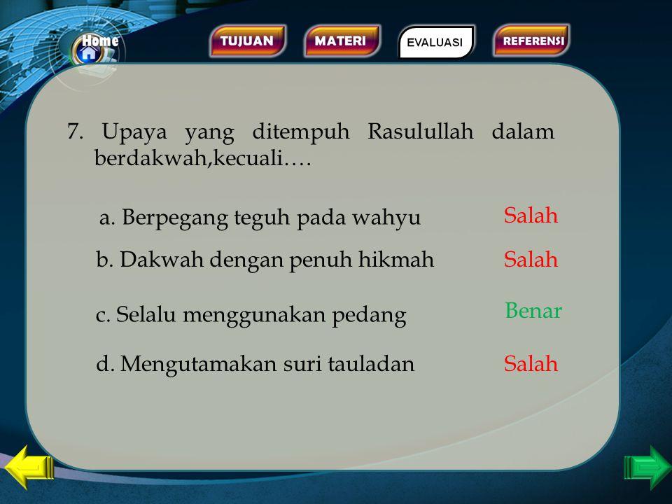 6. Salah satu misi diutusnya Nabi Muhammad adalah sebagi pembawea kabar gembira dan peringatan bagi umatnya. Hal ini dijelaskan dalam …. a. Qs Ali Imr