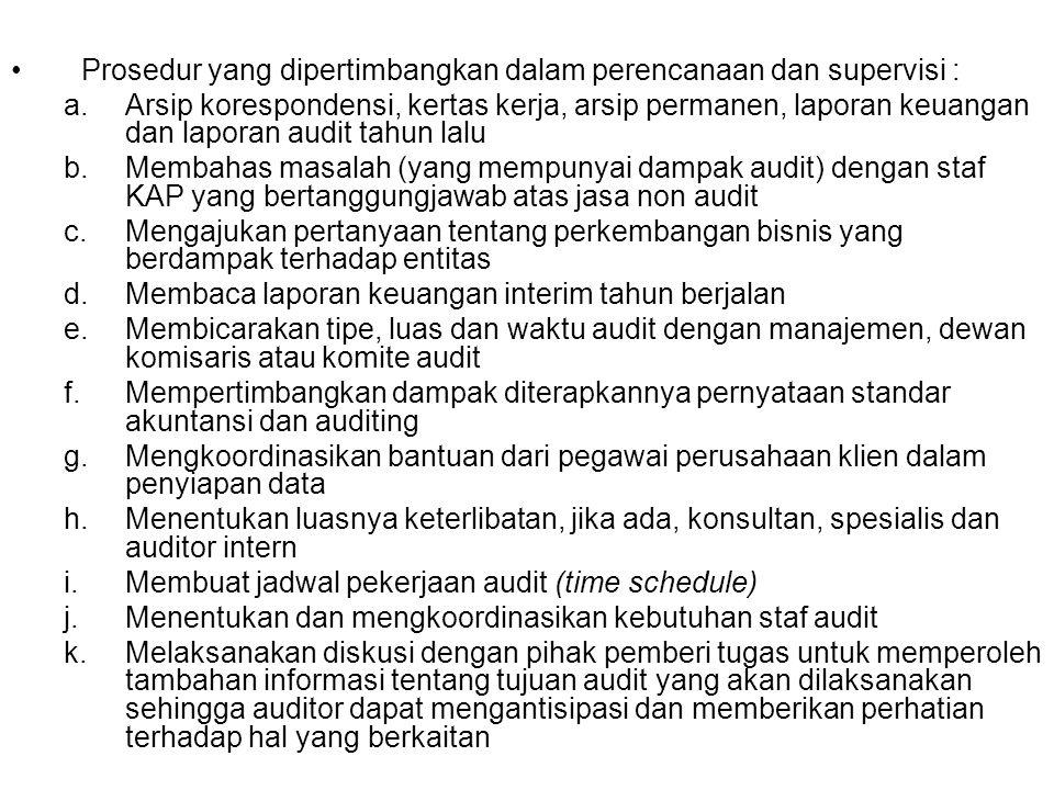 RSIKO AUDIT DAN MATERIALITAS PSA NO.25 :  PEDOMAN BAGI AUDITOR DALAM MEMPERTIMBANGKAN RISIKO DAN MATERIALITAS PADA SAAT PERENCANAAN DAN PELAKSANAAN AUDIT ATAS LAPORAN KEUANGAN BERDASARKAN STANDAR AUDITING MEMPENGARUHI PENERAPAN STANDAR AUDIT :  STANDAR PEKERJAAN LAPANGAN DAN STANDAR PELAPORAN (YANG TERCERMIN DALAM LAPORAN AUDIT BENTUK BAKU) PERLU DIPERTIMBANGKAN DALAM: a.MERENCANAKAN AUDIT DAN MERANCANG PROSEDUR AUDIT (UNTUK MEMPEROLEH BUKTI AUDIT KOMPETEN YANG CUKUP) b.MENGEVALUASI APAKAH LAPORAN KEUANGAN SECARA KESELURUHAN DISAJIKAN SECARA WAJAR, DALAM SEMUA HAL YANG MATERIAL, SESUAI DENGN PABU DI INDONESIA