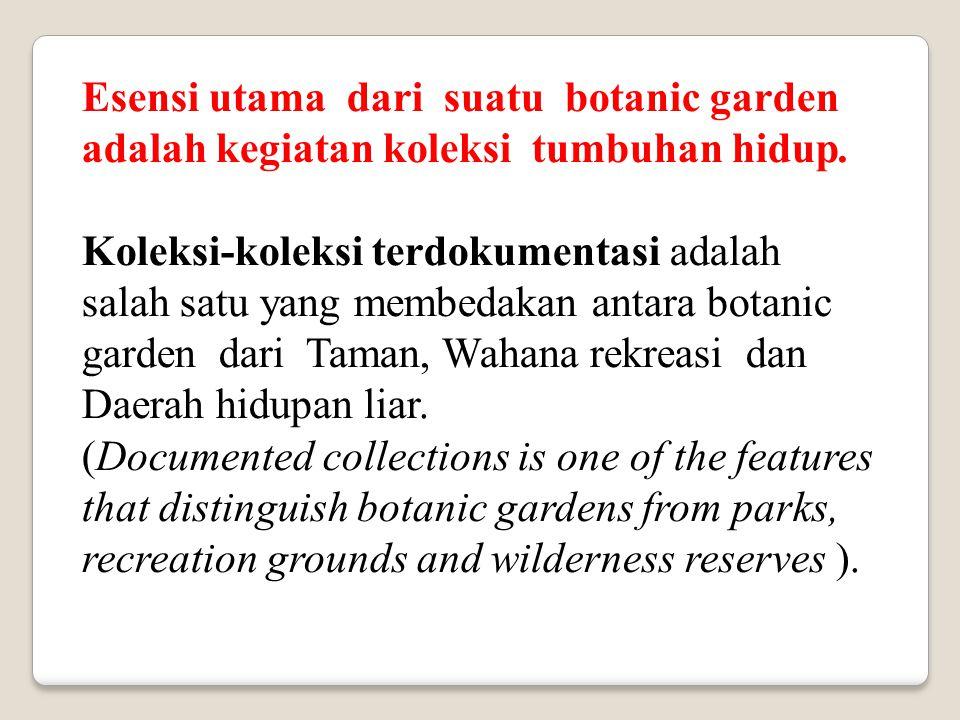 Fungsi konservasi dari kebun raya adalah tambahan dari fungsi-fungsi yang telah ada untuk meningkatkan komitmennya terhadap destruksi, fragmentasi dan degradasi habitat, sehingga beberapa kebun raya memiliki fokus utama terhadap konservasi keanekaragaman hayati.