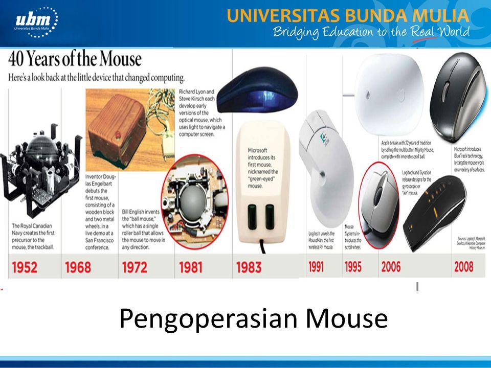 Pengoperasian Mouse INTERAKSIINTERAKSI
