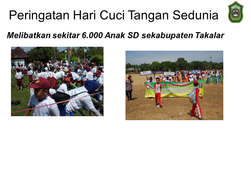 Peringatan Hari Cuci Tangan Sedunia Melibatkan sekitar 6.000 Anak SD sekabupaten Takalar