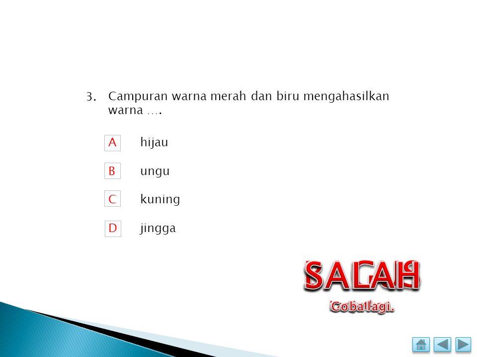 Ibu kota Indonesia adalah …. ABCDABCD Semarang Bandung Medan Jakarta 2.