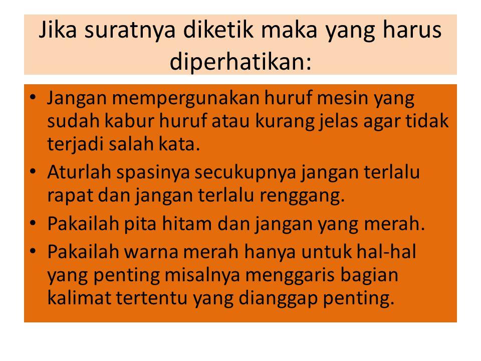 Contoh Surat Bentuk Lekuk PT NASIONAL GOBEL Jalan Panglima Sudirman 17 Telp.