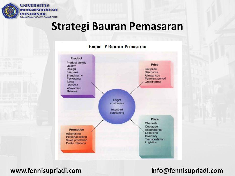 Strategi Bauran Pemasaran www.fennisupriadi.cominfo@fennisupriadi.com