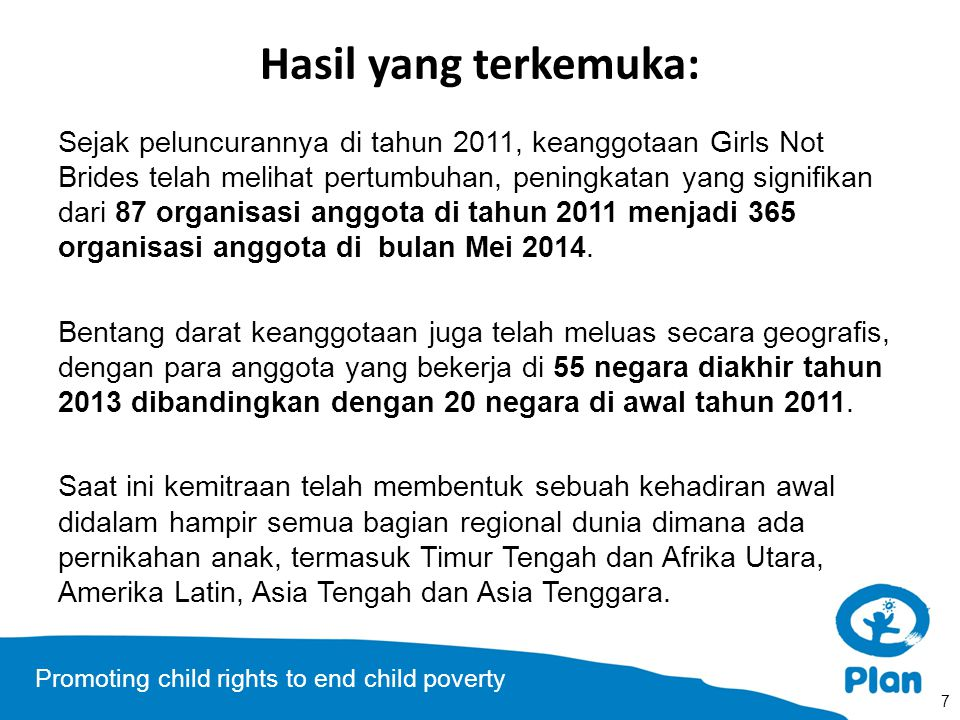 Promoting child rights to end child poverty Negara Anggota GNB 8