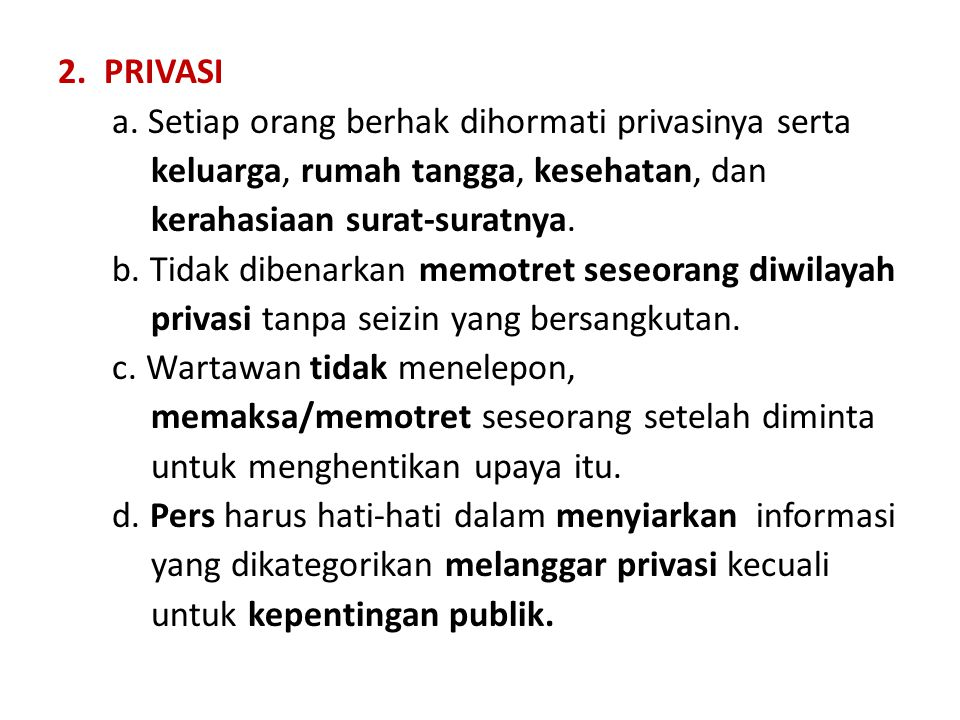 2.PRIVASI a.