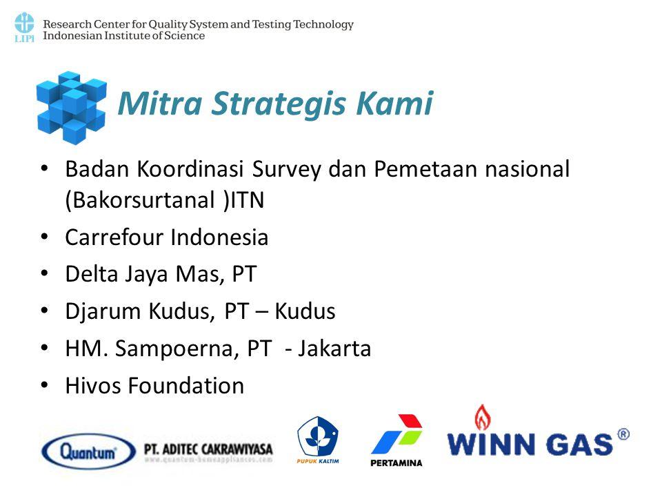 Mitra Strategis Kami Badan Koordinasi Survey dan Pemetaan nasional (Bakorsurtanal )ITN Carrefour Indonesia Delta Jaya Mas, PT Djarum Kudus, PT – Kudus