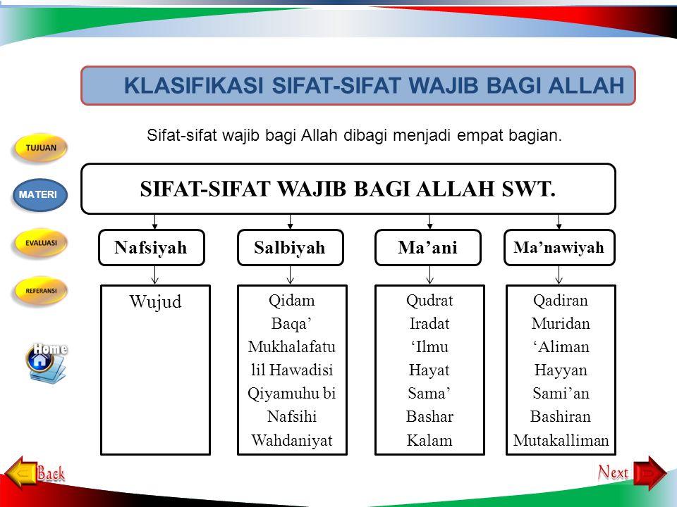5.Sifat ma'nawiyah terdiri dari … sifat. a. satu b.