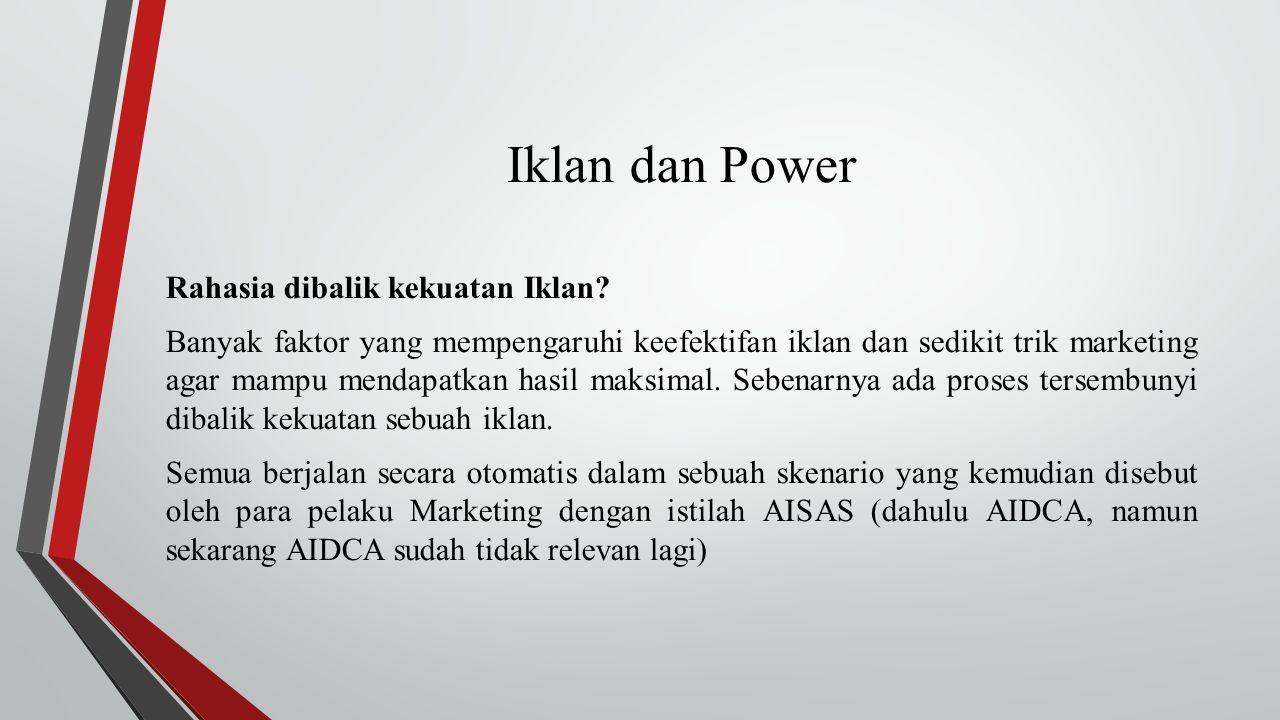 Iklan dan Power Rahasia dibalik kekuatan Iklan.