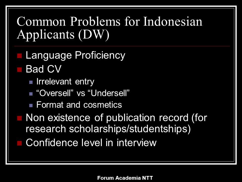 Forum Academia NTT Sumber-sumber beasiswa: Sebagian referensi ini dibuat tahun 2005.