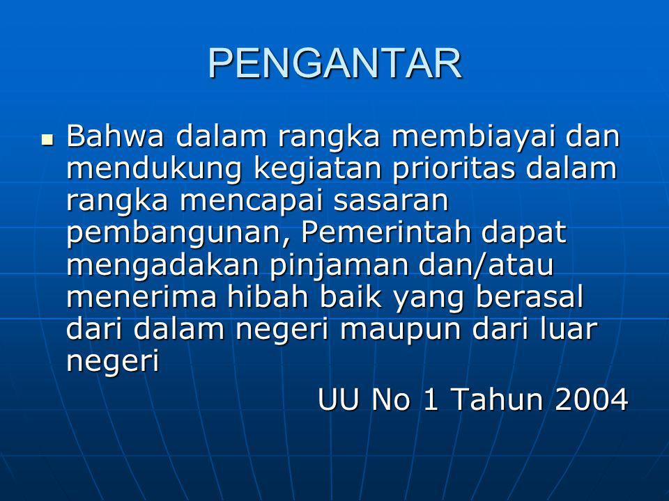 ISI PERJANJIAN PINJAMAN LUAR NEGERI NPPLN ditandatangani oleh Menteri atau pejabat yang diberi kuasa oleh Menteri.