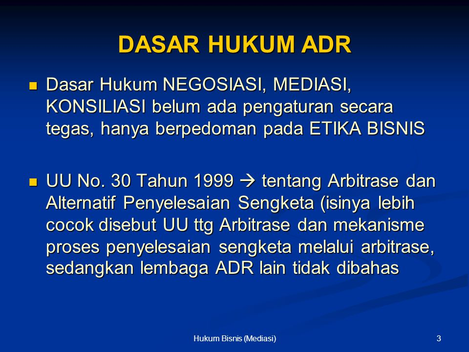 SKEMA MEDIATION PIHAK A PIHAK B MEDIATOR 14Hukum Bisnis (Mediasi)