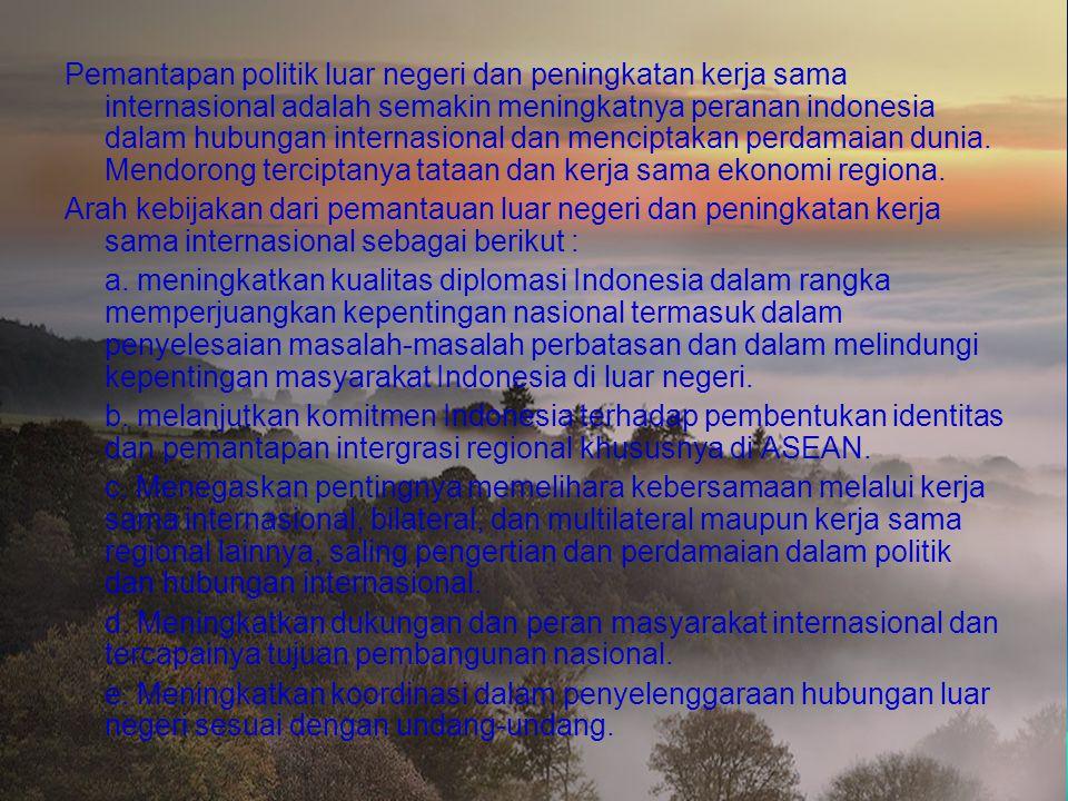Pada tanggal 2 September 1948, pemerintah Indonesia menyampaikan pedoman dan prinsip pokok yang menjadi dasar politik luar negeri Indonesia di hadapan
