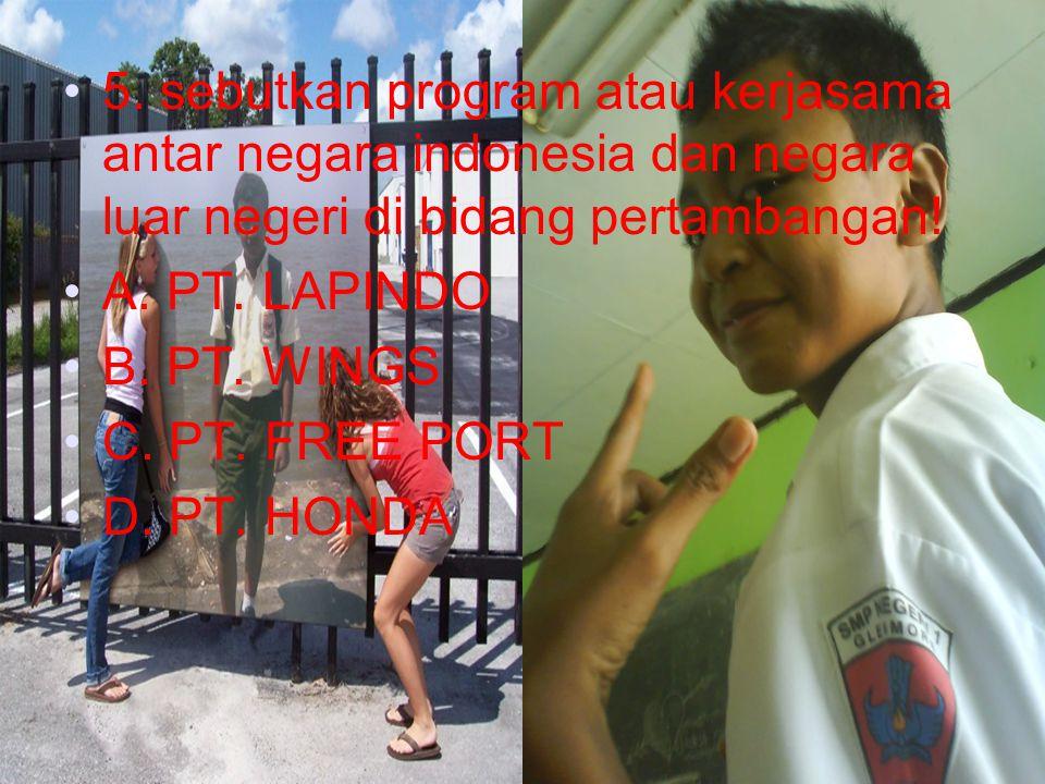 Kerjakno yoooooooo 4. pada tanggal berapa indonesia menyampaikan prinsip pokok dasar politik luar negeri?..... a. 2 september 1995 b. 27 januari 1995