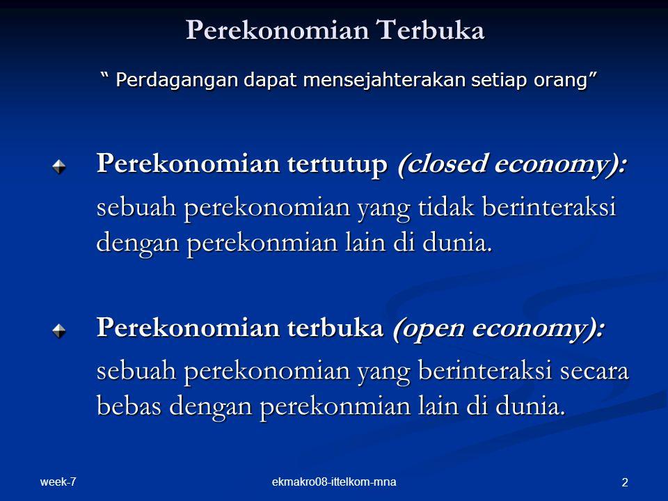 "week-7 ekmakro08-ittelkom-mna 2 Perekonomian Terbuka "" Perdagangan dapat mensejahterakan setiap orang"" "" Perdagangan dapat mensejahterakan setiap oran"