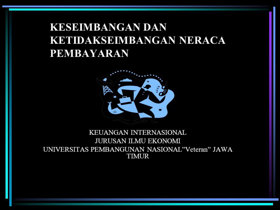NERACA PEMBAYARAN Neraca Pembayaran (balance of payments) adalah suatu sistem akuntansi yang mencatat seluruh transaksi ekonomi antara penduduk suatu negara dengan penduduk dari negara-negara lain selama kurun waktu tertentu.