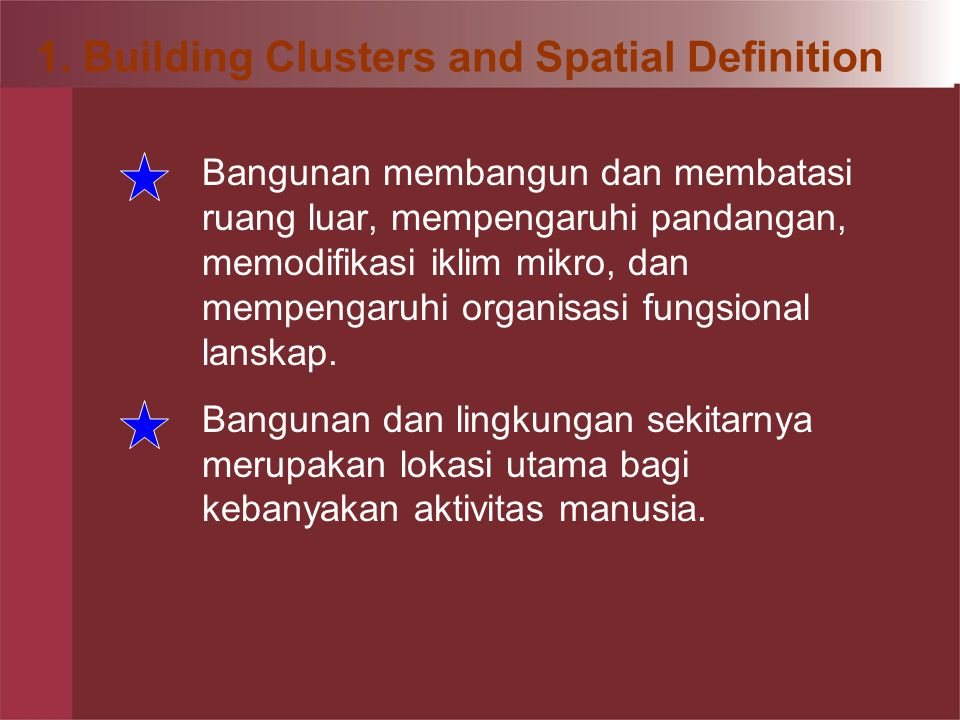 4. Siting Individual Buildings