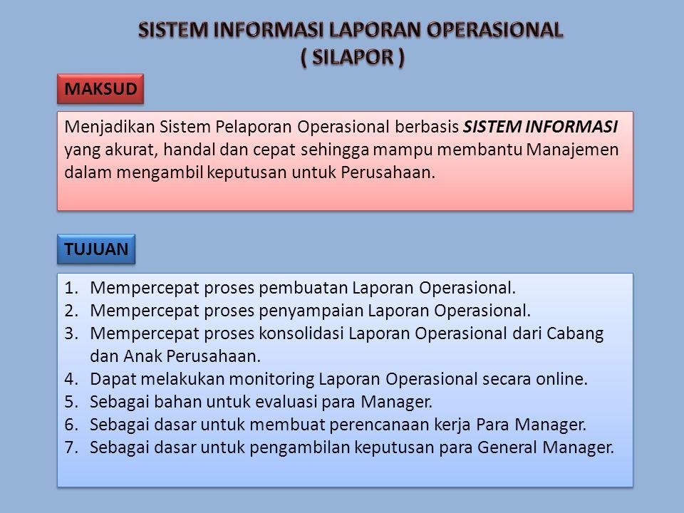 1.Mempercepat proses pembuatan Laporan Operasional.