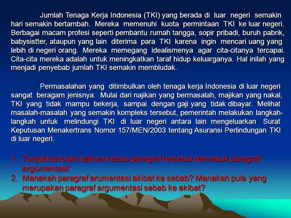 Jumlah Tenaga Kerja Indonesia (TKI) yang berada di luar negeri semakin hari semakin bertambah.