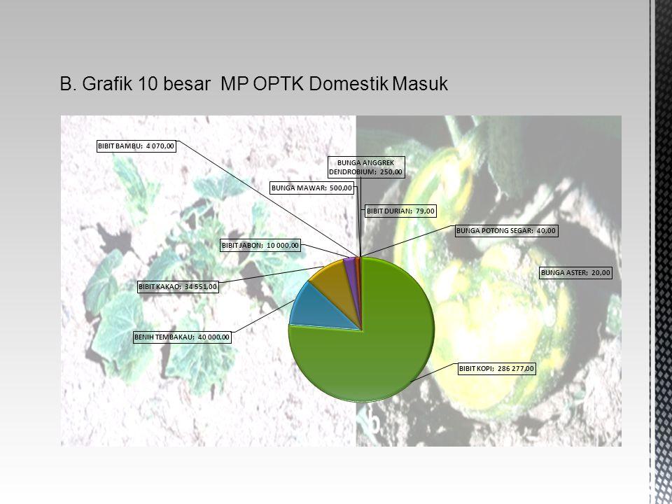 B. Grafik 10 besar MP OPTK Domestik Masuk