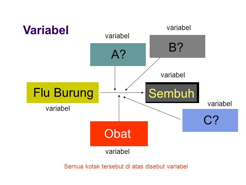 Variabel Flu Burung Sembuh Obat Semua kotak tersebut di atas disebut variabel B? A? C? variabel
