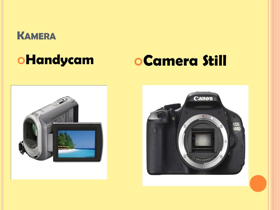 K AMERA Handycam Camera Still