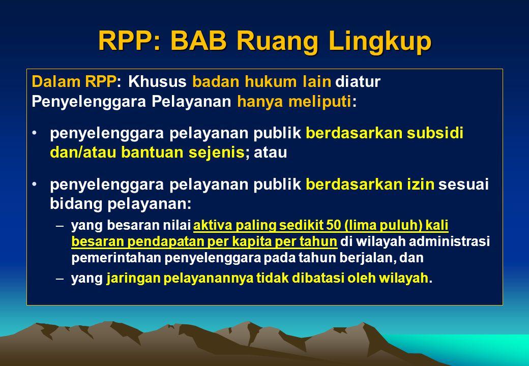 Ruang Lingkup Yanlik [Pasal 5, UU 25/2009] 1)Ruang lingkup pelayanan publik meliputi pelayanan barang publik dan jasa publik serta pelayanan administr