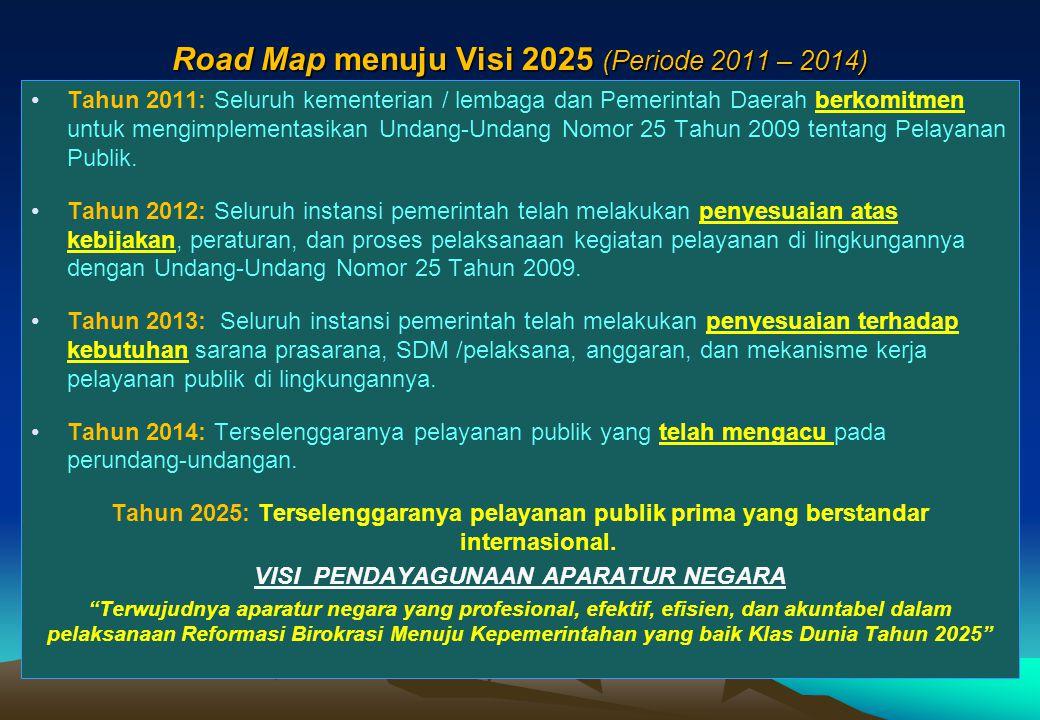 26  Keputusan MENPAN Nomor 63/KEP/M.PAN/7/2003 tentang Pedoman Umum Penyelenggaraan Pelayanan Publik;  Keputusan MENPAN Nomor Kep/25/M.PAN/2/2004 te