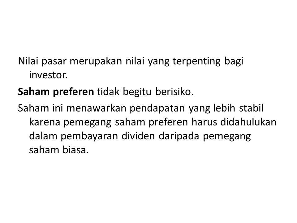Investor kemudian dapat membuat keputusan terhadap pilihan yang berbeda-beda.